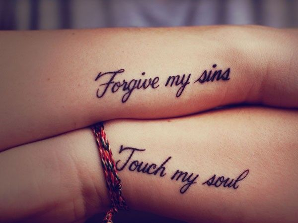 Forgive And Touch Quote Tattoo Tattoomagz