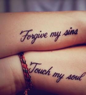 Forgive my sins meaningful tattoo