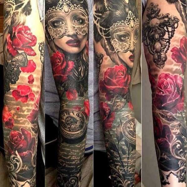 Gorgeous Womens Tattoos Gorgeous Women's Mask's And