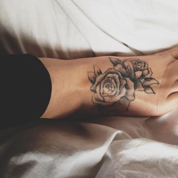 Incredible Rose Foot Tattoo Tattoomagz