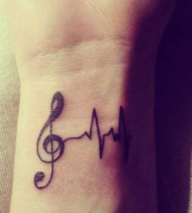Lovely looking music style tattoo