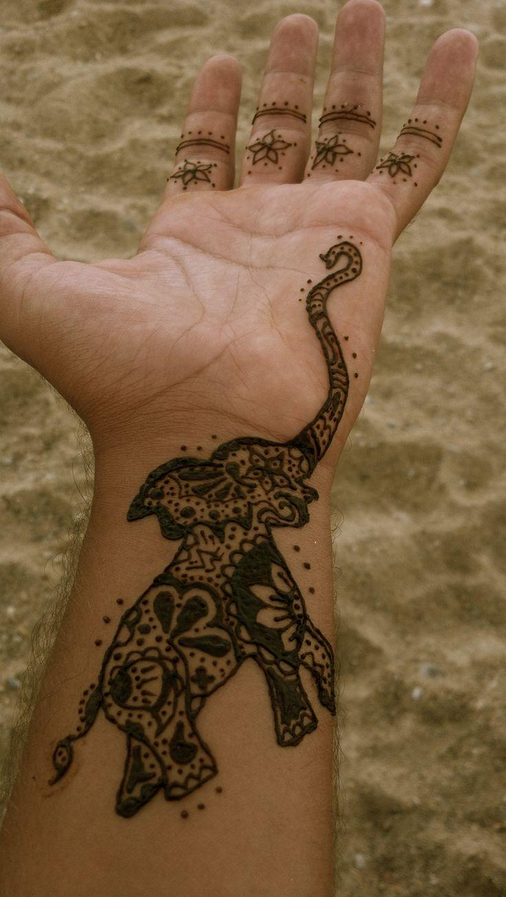 Elephant Hand Tattoo Mandela Style Hand's Elephant
