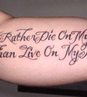 Men's arm's meaningful tattoo