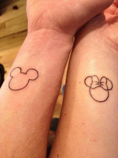 Pretty Couple Disney Tattoo Tattoomagz
