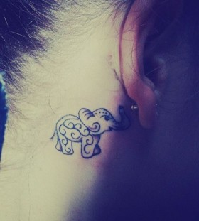 Realistic Black Elephant Tattoo Tattoomagz