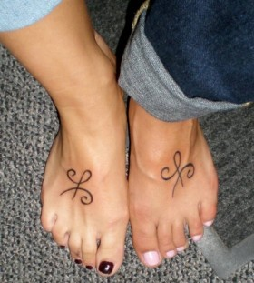 Simple lovely leg's meaningful tattoo