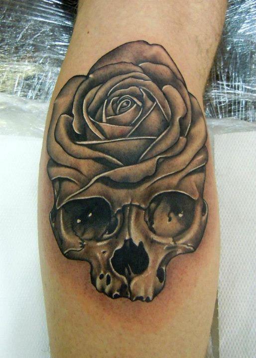Black Skull Tattoo Design Skull Black Rose Tattoo