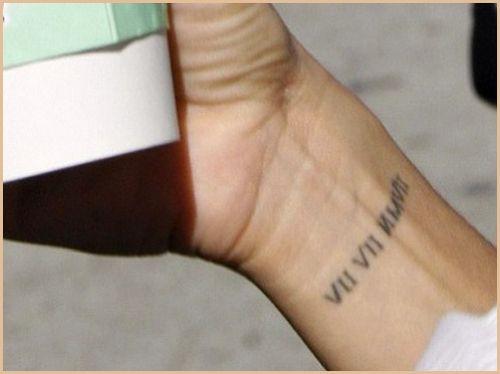 Small Roman Numerals Date Tattoo On Arm Tattoomagz