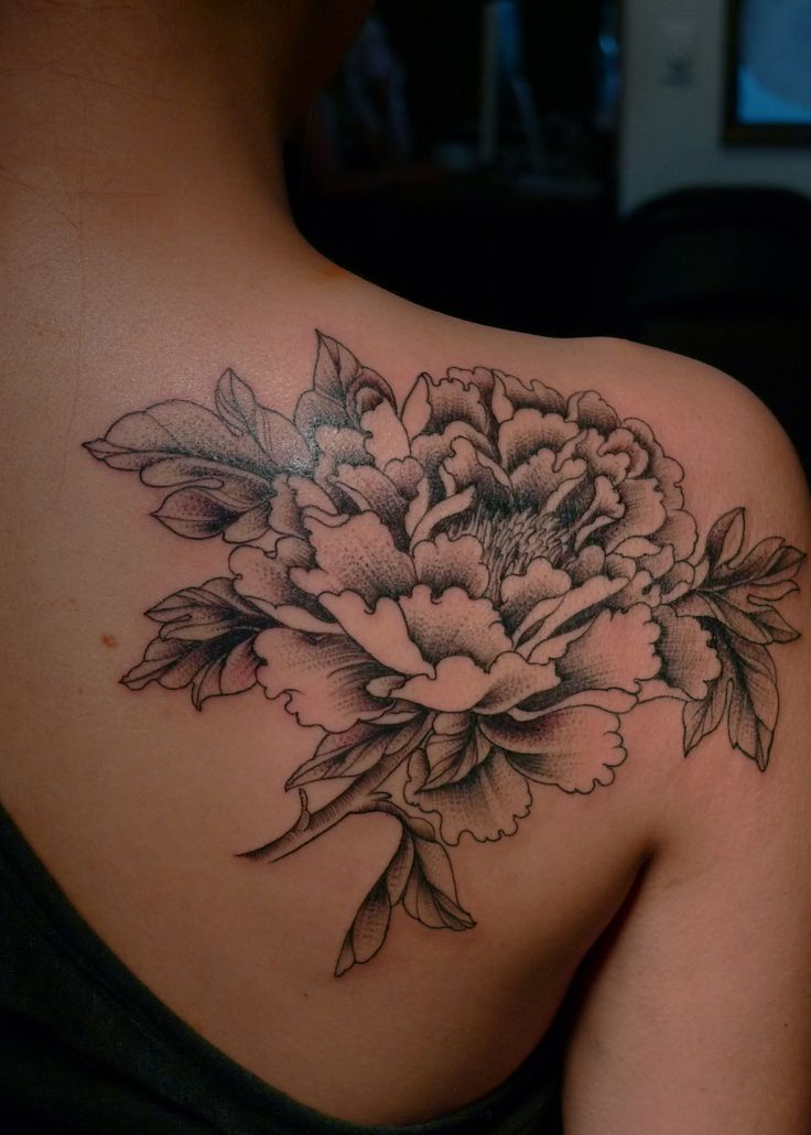 Flower Tattoos Tattoos Floral: White-and-black-flower-tattoo.jpg