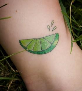 Awesome lemon sliece tattoo