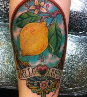 Hello lemon tattoo
