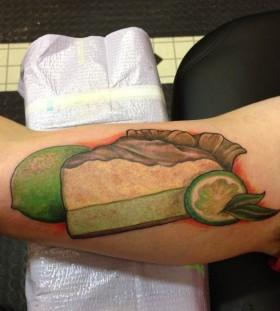 Lemon pie tattoo