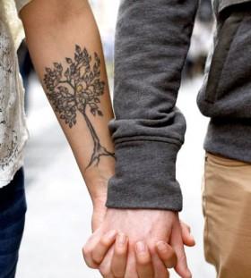 Lemon tree tattoo on arm