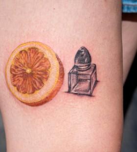 Salt and lemon tattoo