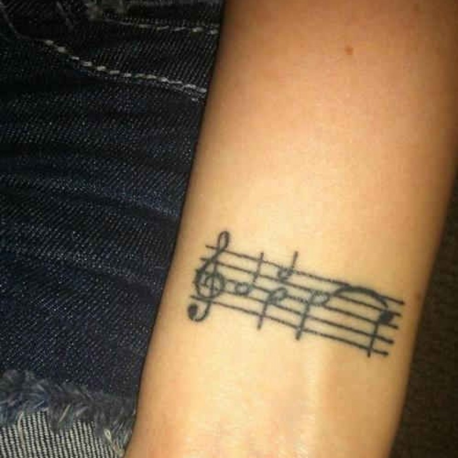 Black simple music note tattoo | Tattoomagz.com › Tattoo ...