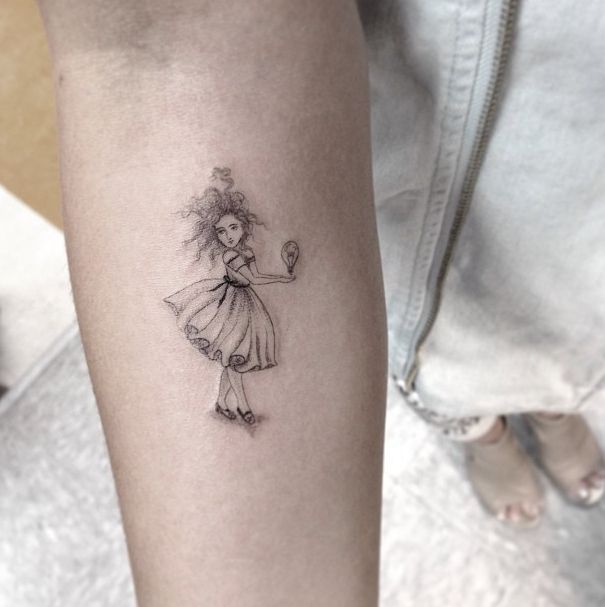 Pretty dancer los angeles style tattoo for Los angeles tattoo ideas