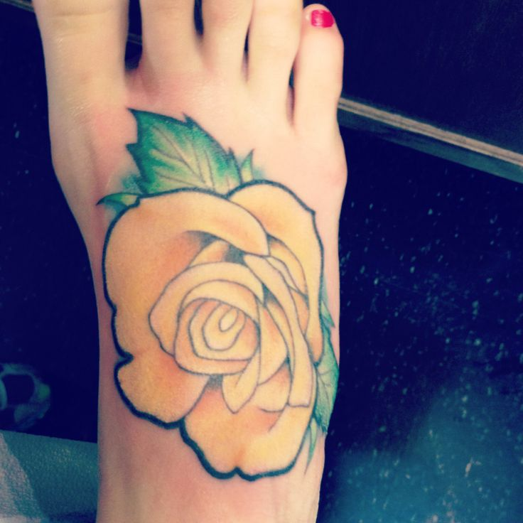 Red Nails And Yellow Rose Tattoo Tattoomagz