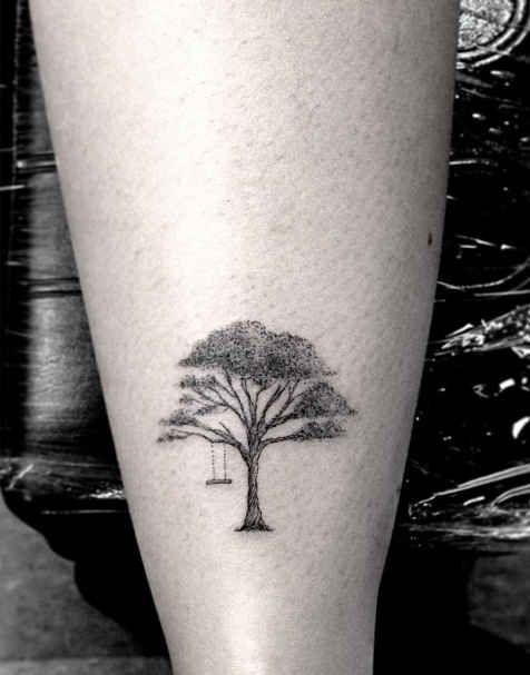 Small Tree Los Angeles Style Tattoo