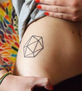 Flawless cool body geometric tattoo