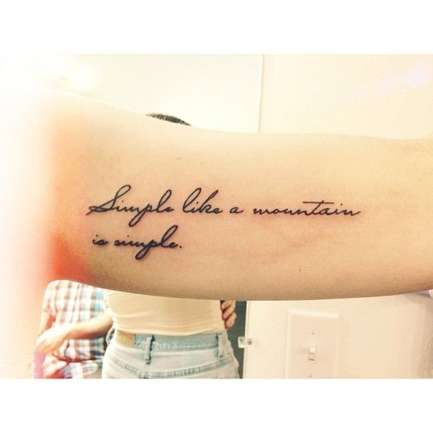 simple lovely quote tattoo tattoomagz