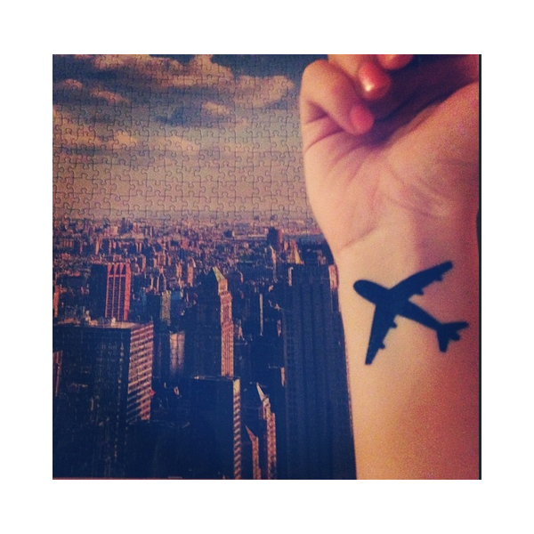 airplane tattoo tumblr
