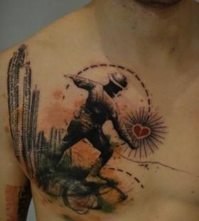 work of art tattoo abstract