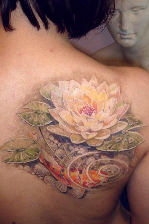 amazing art lotus flower tattoo tattoomagz. Black Bedroom Furniture Sets. Home Design Ideas