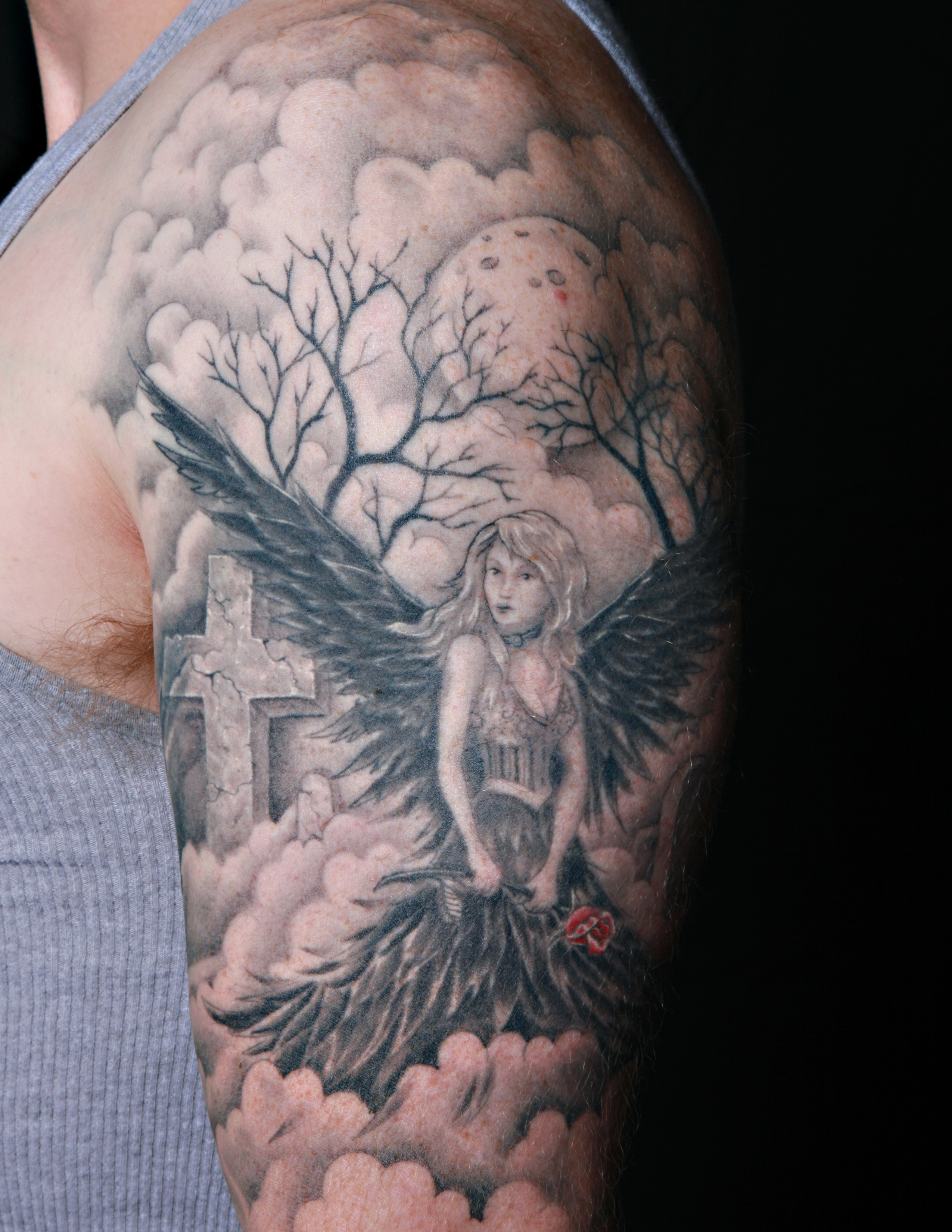 blackangelarmtattoojpg