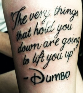 Inspiring Dumbo quote tattoo