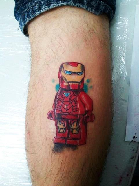 lego ironman tattoo. Black Bedroom Furniture Sets. Home Design Ideas