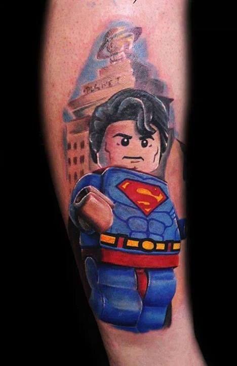 Lego superman tattoo - TattooMagz
