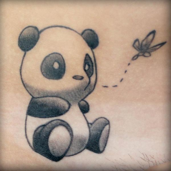 Simple Panda Bear Tattoo Tattoomagz