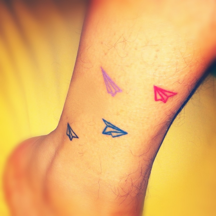 Tattoo Drawings On Paper Small: Small Paper Planes Tattoos