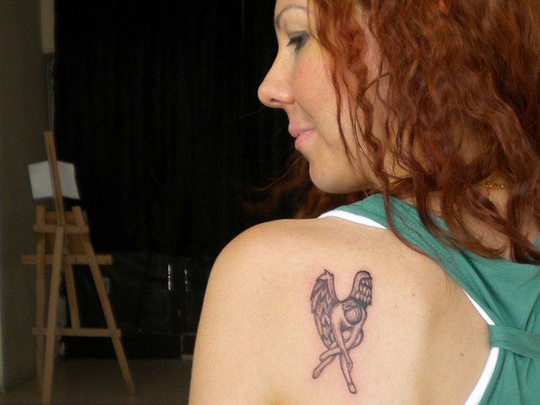 Angel Tattoo Designs For Women Small Small Dance Angel Tattoo