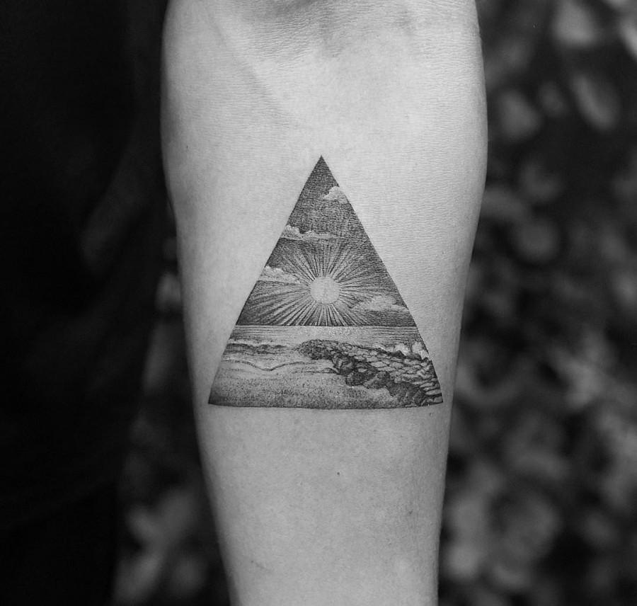 the beach triangle tattoo