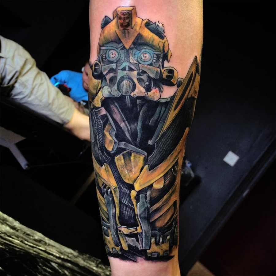 transformers bumblebee arm tattoo tattoomagz. Black Bedroom Furniture Sets. Home Design Ideas