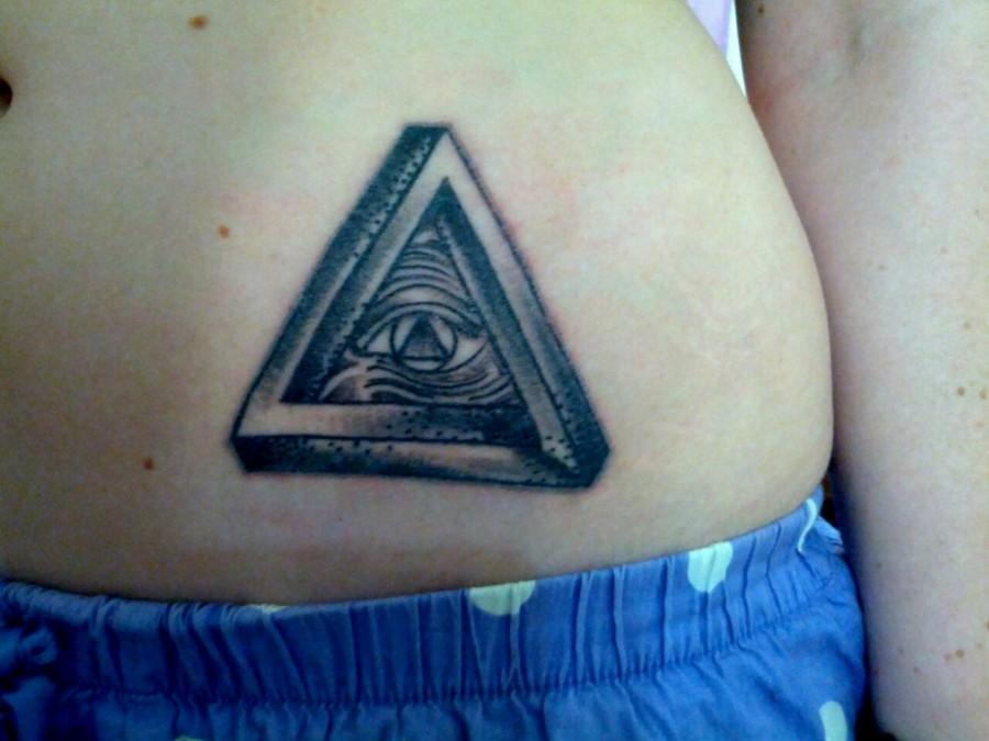 Triangle Eye Stomach Tattoo Tattoomagz