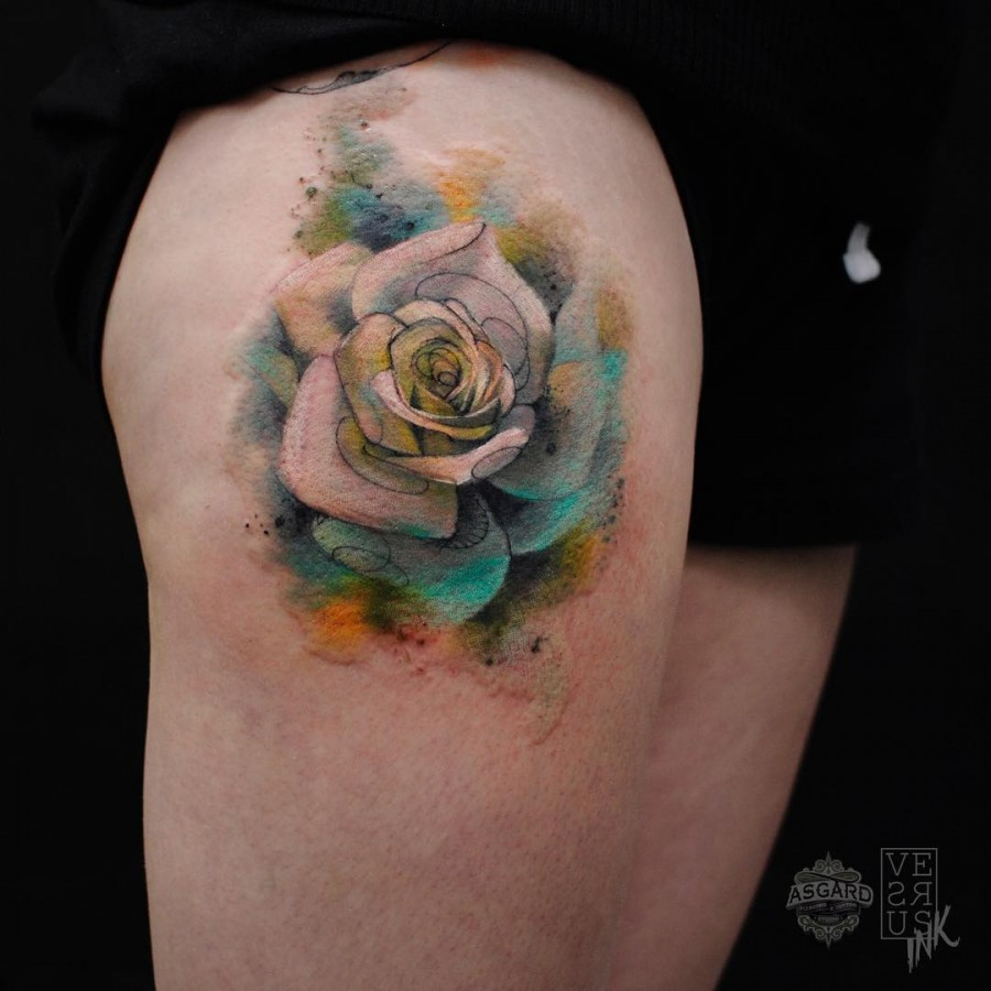 watercolor-rose-tattoo-by-aberto-cuerva