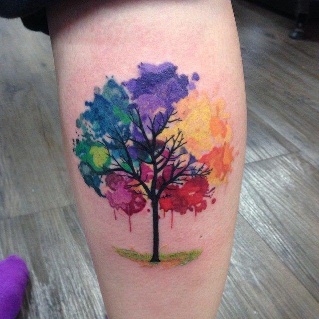 Watercolour tattoo - tree