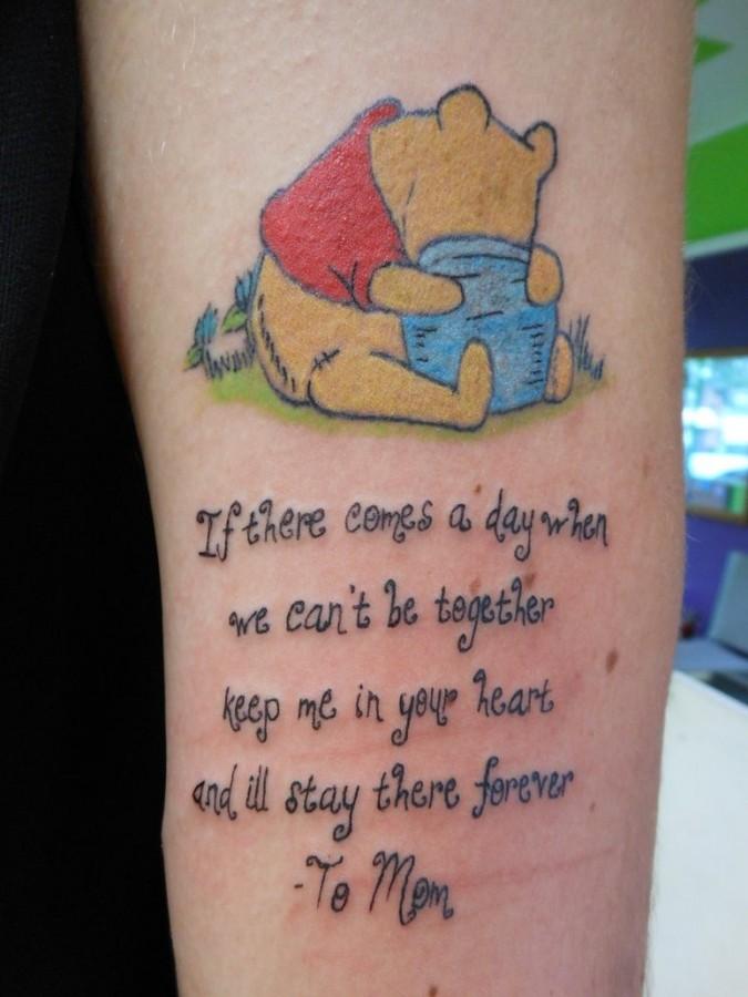 Winnie the pooh and quote tattoo tattoomagz for Winnie the pooh tattoo