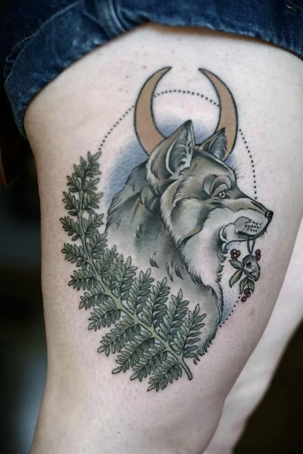 wolf-tattoo-by-kristen-holliday