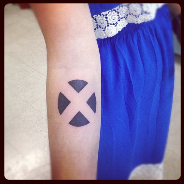X Men X Tattoo X-men symbol arm tatto...
