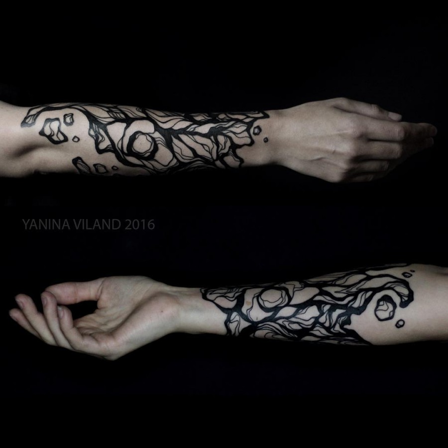 abstract-half-sleeve-tattoo-by-yaninaviland