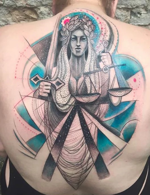 abstract tattoos for women