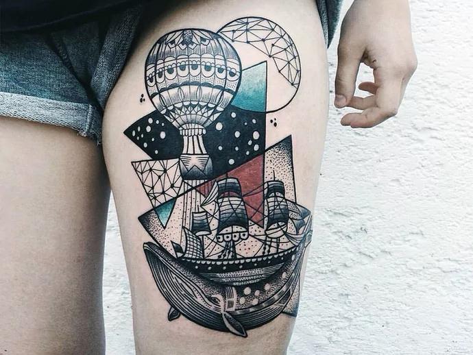 abstrcat tattoos for women