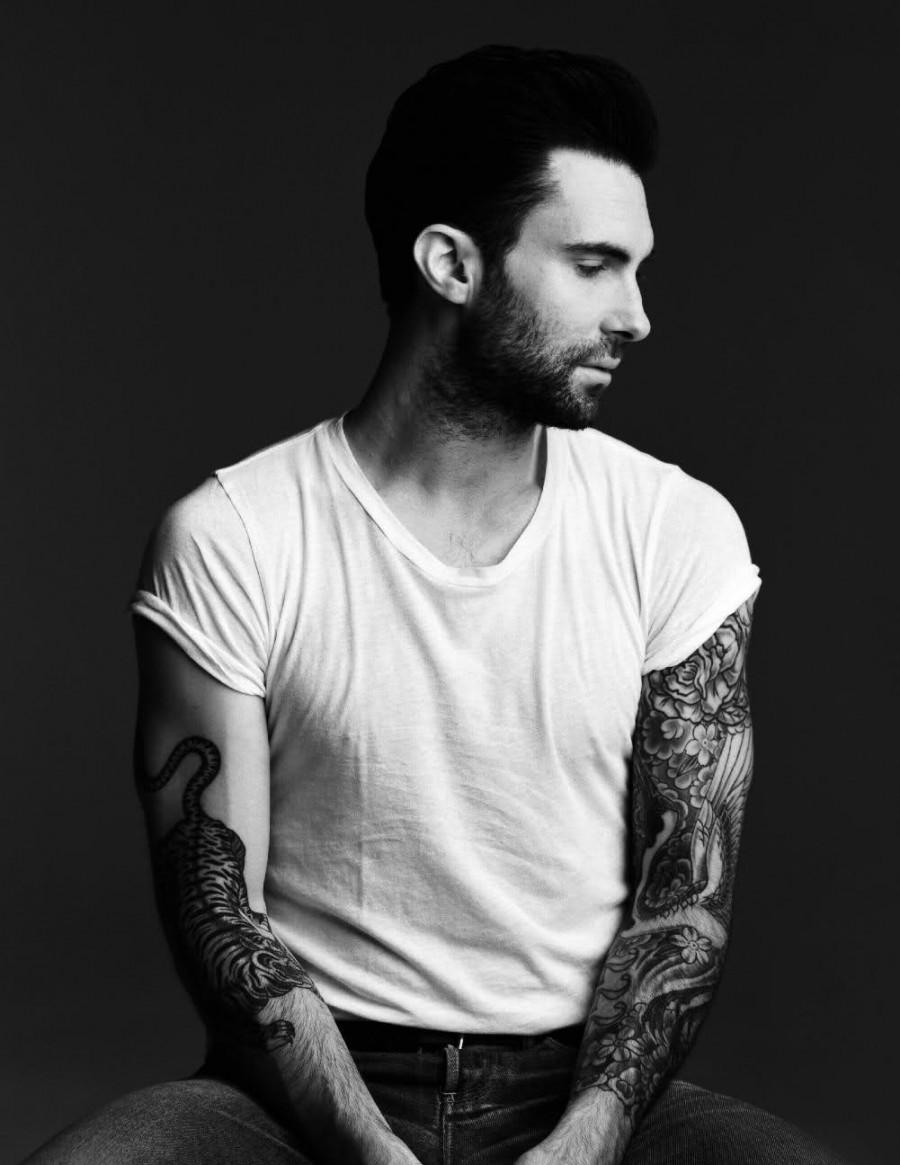 Adam levine tiger tattoo in his right arm tattoomagz for Adam levine tiger tattoo