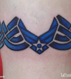 Blue Air Force Armband Tattoo Artists