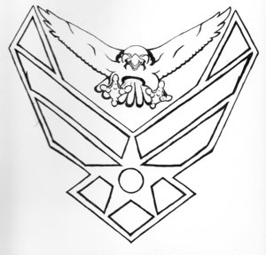 Simple Air Force Tattoo Designs Pictures