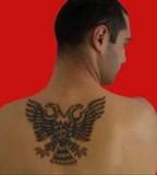 Albanian Tattoo Lilzeu Tattoo on Men's Back