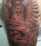 Albanian Viking Knight Tattoo